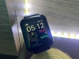 Smartwatch com Caixa e Carregador, pouco uso