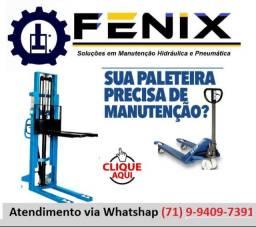Manutenção de paleteiras e equipamentos hidráulicos