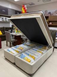 Base Box Baú Casal Bipartida 138x188x40.Compre Direto da Nossa Fábrica.