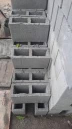 Tijolo de cimento , bloco estrutural