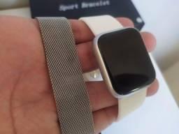 Relógio Inteligente P80 Prata - Unisex - Topíssimo