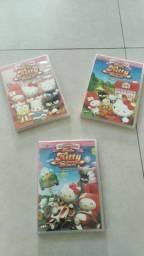 3 DVDs da Hello Kitty *Originais. Só R$ 15,00