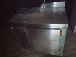 Freezer bancada de inox 103x80