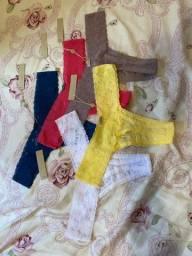 Combo Loungerie: Conjunto de lingerie vermelho + 5 calcinhas, todos novos com etiqueta