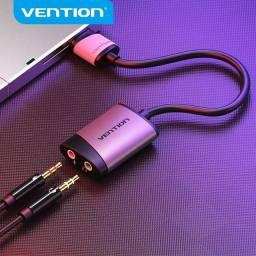 Placa de som Externa USB Vention