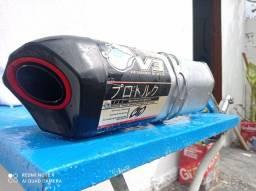 Escape Ponteira V3 Pro Tork + Curva Nxr 125/150 Bros 2003/08, Alumínio