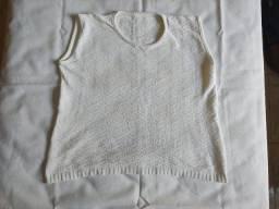 Suéter de lã branca TM G
