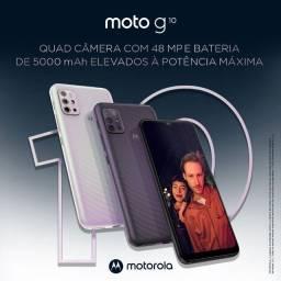Motorola Moto G10 Cinza ou Branco 64GB | 4GB de RAM | Muita Bateria 5000 mAh | Lacrado