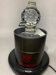 Relógio Masculino Weide Anadigi Original Wh-843 - Prata