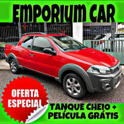 TANQUE CHEIO SO NA EMPORIUM CAR!!! FIAT STRADA 1.4 CD ANO 2016 COM MIL DE ENTRADA