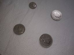 Moedas antigas, 2000, 300, 200 e 100 Reis