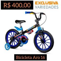Bicicleta Infantil Aro 12 Tech Boys Nathor + Entrega Grátis