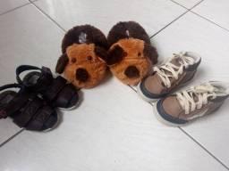 kit com 3 Calçados infantil