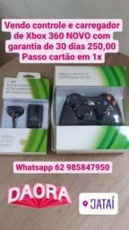 Controle sem fio com carregador Xbox 360