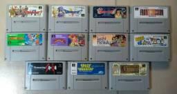 Lote contendo 11 jogos originais SFC/SNES - *Sou de Camaçari