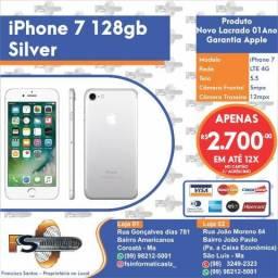 Iphone 7 128gb Silver Lacrado Pronta Entrega