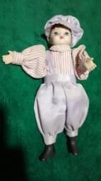 Bonecas pano e porcelana