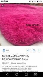 Tapete Peludo Rosa Pink