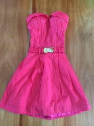 Vestido rosa infantil tamanho 12 anos