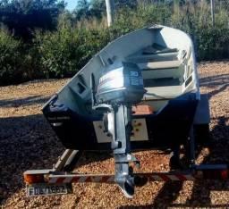 Lancha barco de alumínio levefort troco por quadriciclo 4x4 - 2010