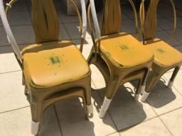 Cadeira Tolix Vintage em Aço ByHaus Nova Sem Uso Ultimas 3 peças