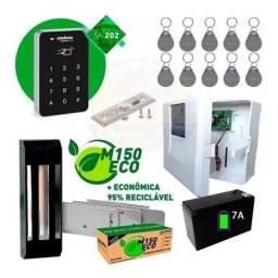 Kit Controle Acesso Intelbras Fechadura Automatiza Eletroímã<br><br> INSTALADO