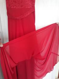 Vestido rendado vermelho - madrinha de casamento