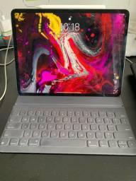 iPad 12.9 3ª geração 64gb (Wi-Fi + 4g) + teclado e caneta