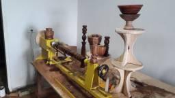 Torno de tornar madeira c.copiador marca de fabricação gomme usado para testes