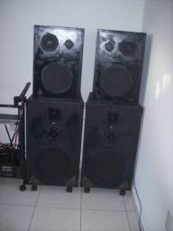 Potencia dbs 1500 e caixas som