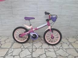 Bicicleta NATHOR TopGirls rosa e roxo semi nova
