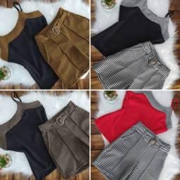 Conjunto M G GG short roupa feminina