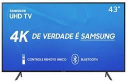 """Smart Tv Led 43"""" Samsung 43Ru7100 Ultra Hd 4K Para Retirada De Peças"""