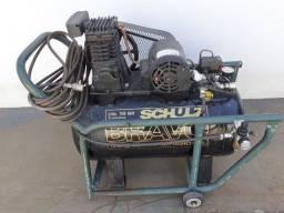 Compressor Schulz CSL 10 Bravo 100 Litros 140 Libras