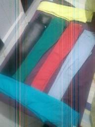06 Calças Jeans Feminino colorido