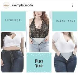 Calça jeans plus size 46 ao 56