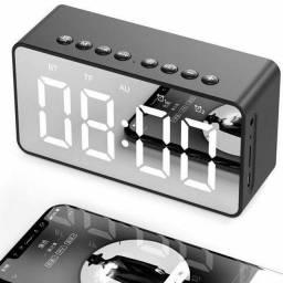 Relógio Digital Despertador com Caixa de Som Exbom. Preço Especial de Lançamento!