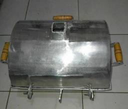 Churrasqueira a bafo media 28/35 alumínio grosso
