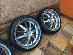 Vendo ou troco rodas aro 20 Vaska 4x100