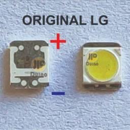 250x Led 2835 3v 1w LG Linha Ln Innotek Tv Backlight 3528