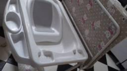 Banheira de bebe com trocador