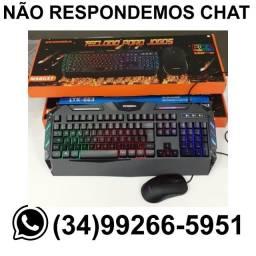 Kit Teclado + Mouse Gamer c/ Led Ecooda 8037* Fazemos Entregas