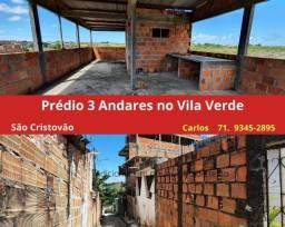 Oportunidade em São Cristovão:  Prédio, 3 andares, Vila Verde, laje  coberta