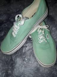 Tênis Vans verde água, em estado de NOVO!