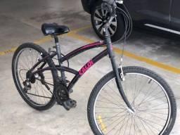 Bicicleta caloi 300 preto/rosa