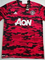 Camisa Manchester United Training Suit Camuflada Adidas 20/21 - Tamanho: G