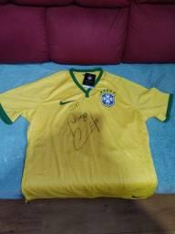 Camisa Original Nike Seleção Brasileira autografada pelo Cafu