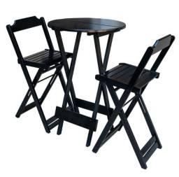 Conjunto de mesa bistrô com 2 cadeiras