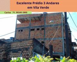 Excelente Prédio 3 andares localizado em Vila Verde, laje toda coberta -  São Cristovão