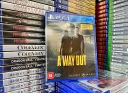 A wa out - Midia física - Novo PS4